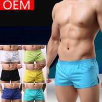 Wholesale New Summer Men s Sleep Bottoms Lounge Short Gym Men Shorts Casual Joggers Couple Clothing Gay Sexy Shorts Cotton P55