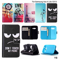 ace big - Flip Leather Big Eyes Design Cell Phone Case For Samsung Galaxy Ace Lite Duos G313M Neo G318H G318ML Card Slots Stand Wallet