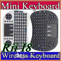 Wholesale Wireless Keyboard rii i8 keyboards Fly Air Mouse Multi Media Remote Control Touchpad Handheld for TV BOX Android Mini PC B FS