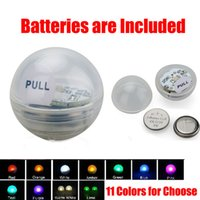 led button light - DHL Free Wedding And Events deocration Button Battery Operated Mini Flashing LED Light Ball Fairy LED Berries Submersible led light