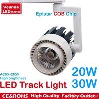 Wholesale Rail LED tracking lights fashion store LED spotlight Epistar COB reflector W W flood track light K K K AC85 V
