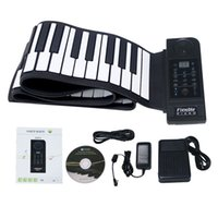 Wholesale PA88 Portable MIDI Flexible Tone Electronic Hand Roll Up Piano for PC Keys