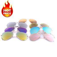 authentic aviator sunglasses - 26 Styles Aviator Mirror Sunglasses Summer Pilot Men Women Brand Designer Authentic Sun Glasses Metal Frame Top Quality