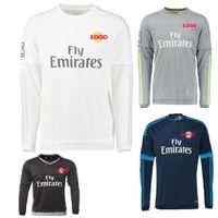Wholesale Thai quality Real Madrid CF long sleeve jerseys togs James Bale Ramos Ronaldo men s soccer jerseys Cheap football shirt suits