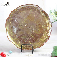 best dinner plates - Holy inch cheap Best selling gold diamond design for wedding and events ctn round dinner charger glass plates