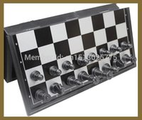 Wholesale Magnetic Chess Pieces Set Staunton Style Chessmen Collection Portable Folding Board Chesses Game