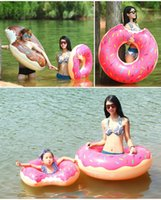 Wholesale 2 Colors cm Summer Water Toy Swimming Float Inflatable Swimming Ring Donut Swimming pool Life buoy Beach Toys Summer toys