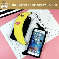 Cheap 2016 New Style Fashion Banana Silicone 3D Phone Case for iPhone Apple 5 5s 6 6s 6plus 6splus