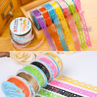 Wholesale DIY Cute Colorful Kids Photo Props Lace Flower Tape for Scrapbook Decor Photo Albums Accessories washi tape