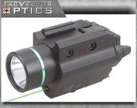 Wholesale TAC Vectop Optics Doublecross Tactical LED Pistol LED Flashlight Green Laser Combo Handgun Sight Lumens Light Fit GLOCK Walther