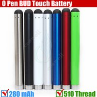 510 battery - Top Bud touch Colorful battery mah Thread O Pen CE3 atomizers CBD vape Oil thick Waxy Smoking wax Tank mini e Cigarettes vapor DHL