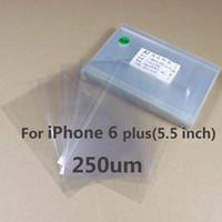 adhesive laminator - 250um Mitsubishi OCA Optical Clear Adhesive Glue Film Double Side Sticker For iPhone plus LCD Repair Screen Laminator Machine