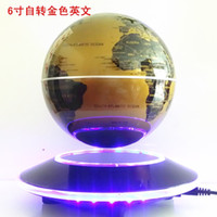 Wholesale Magnetic Suspension Globe Commercial Office Decoration Creative Gift Golden English