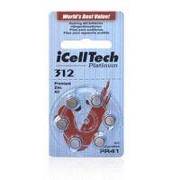 Wholesale 60 iCellTech High Performance Hearing Aid Batteries Zinc Air A312 PR41 Battery for BTE Hearing aids