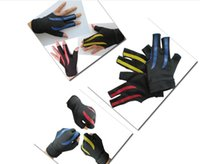Wholesale Billiards Snooker Billiards gloves high elastic comfort wear Xihansugan slip nylon Lycra three finger gloves