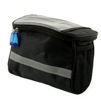 basket pannier - Black Bicycle Outdoor Handlebar Bar Diamond shaped Front Basket Tool Bag Pouch Pannier