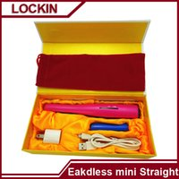 bags aluminum battery - Quality Guarentee USB Power Hair Straightener Cordless Hair Straightener Mini Rechargeable USB Straightener Travel Seramic Flat Iron Bag