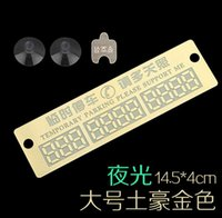 Wholesale Large luminous temporary parking card board automobile license plates parked Norwegian mobile version cm wide licensing