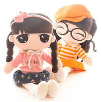 Wholesale 2016 New Arrival Girl plush Dolls Baby Children Best Stuffed Plush Gift More Styles have stock