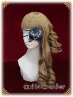 Wholesale pc Lolita Eye Mask Gothic Punk Reindeer Charm Flowers Eye Patch Cosplay Props Victorian Retro Vintage Medieval