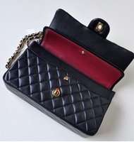 Wholesale women lady and jumbo size Classic Flap Bag Leather Quilted Chain Shoulder Bag Women s channel Double Flap plaid handbags Bag