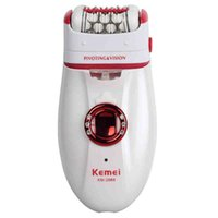 arm hair - Depilatory Electric Female Epilator Women Hair Removal For Facial Body Armpit Underarm Leg Depilador Depilation bikini arm kemei KM