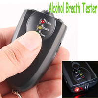 Wholesale High quality New Accurate Breath Alcohol Tester Breathalyzer Flashlight Digital Breath Alcohol Tester Black LED Alcohol Monitor Dropshipping