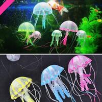 Wholesale Effect Artificial Glowing Blue Jellyfish Ornament Fish Tank Aquarium Decoration quot