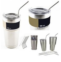 Wholesale New Free Brushes Stainless Steel Straws Durable Reusable Metal Drinking Straws for OZ Yeti Tervis Cups Straw