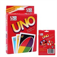 Wholesale UNO Poker Card Family Fun Entertainment Boat Game Playing House Of Cards Standard Edition Kid Funny Puzzle Trading Card Games Chrismas Gift