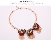 Wholesale America and Europe pop owl necklace New Bohemia contracted garment sautoir