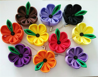 african coffee - handmade rose lapel pins ribbon flower pin for women and men red orange persimmon yellow wisteria blue royal purple coffee black
