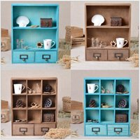 Wholesale 2pcs Drawer Size cm Quality Wooden Storage Bins Drawers Sundries Cosmetic Medicine Toys Organization Box Case Bins Cabinets