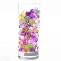 Wholesale 200 Crystal Mud Soil Water Beads Balls for Flower Plant Vase Wedding Decor