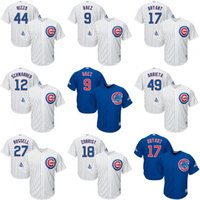 Wholesale 2016 World Series Champions Patch Chicago Cubs Kris Bryant Anthony Rizzo Javier Baez Jersey Baseball Cool Base Jerseys