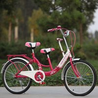 Wholesale Mother Kid Tandem Bike Safety Touring Cruiser Bicycle Adjustable Three Seats JN0056 salebags