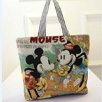 Wholesale 13 Colors Fashion Cartoon Bags springandsummer Designer Handbags For Women Canvas Container Shopping Bags Fashion Handbags Organizer