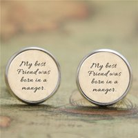 bible earrings - 10pairs Bible earring my best friend was born in a manger Print earring Glass Photo Christian earring