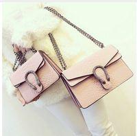 Wholesale 2016 New Designer Handbags snake leather embossed fashion Women bag chain Crossbody Bag Brand Designer Messenger Bag sac a main