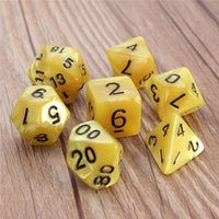 Wholesale 7pcs Set Resin Polyhedral TRPG Games For Dungeons Dragons D4 D20 Multi Sides Dice Toys Pop for Game Gaming