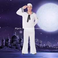 artistic halloween costumes - DHL Adult Navy Performance costumes cosplay Play Stage Service Sailor Uniforms Artistic Troupes Clothing Uniform Halloween Festival Cosplay