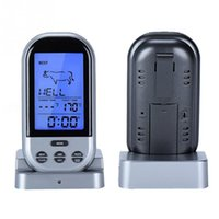 Wholesale Remote Wireless Digital Kitchen Cooking Meat Thermometer with Timer for BBQ Grill Oven