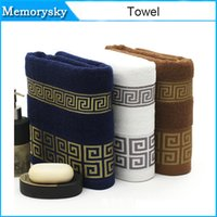 Wholesale High quality pure cotton gift towel more authentic plain satin back word lines face towel