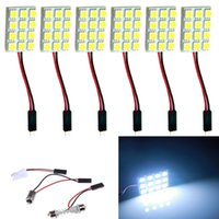 auto interior door panels - 50pcs Super White New Energy saving SMD LED Panel Dome Lamp Auto Car Interior Reading Plate Light Roof Ceiling Interior
