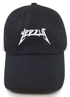 Wholesale Yeezus Baseball Cap Hat Tour Embroidered Dad Cap Kanye West New