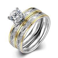 plaqué motif exquis mode vintage or en acier de titane bague cadeau de fiançailles de mariage des femmes en acier inoxydable tendance TGR063-A-8