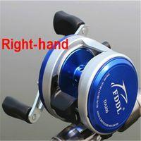 Wholesale Left Right Hand Fishing Casting Reel BB Ball Bearing Fishing Casting Reel Metal Cast Drum Wheel Bait Fishing Casting Reel