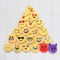 backpacks favor bag - 20pcs Emoji Emotion QQ Expression Key Chains Boys and Girls Favor Plush doll toy Phone bag Backpack pendant