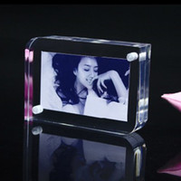Wholesale Pieces Transparent Magnet Acrylic Photo Frame Inch Plastic Creative Crystal Picture Frame Bulletin Board