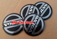 Wholesale 20pcs mm Black Volvo car Wheel Center Hub Cap Badge Emblem Decal wheel logo Sticker